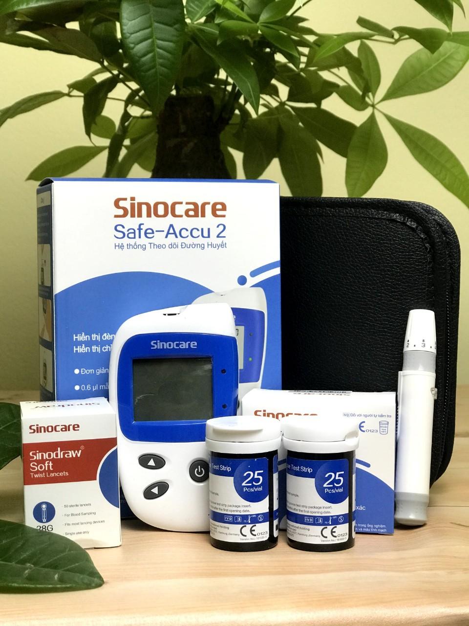Máy đo đường huyết Sinocare Safe accu 2